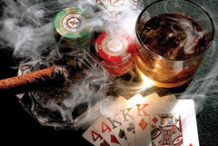 gambling smoking drinking